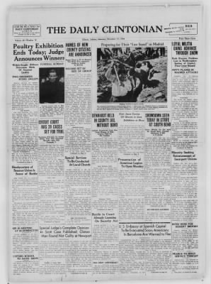 The Daily Clintonian from Clinton, Indiana on November 21, 1936 · Page 1