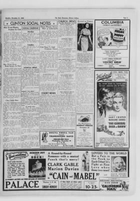 The Daily Clintonian from Clinton, Indiana on November 21, 1936 · Page 3