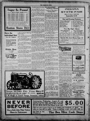 The Fairmount News from Fairmount, Indiana on August 22, 1921 · Page 4