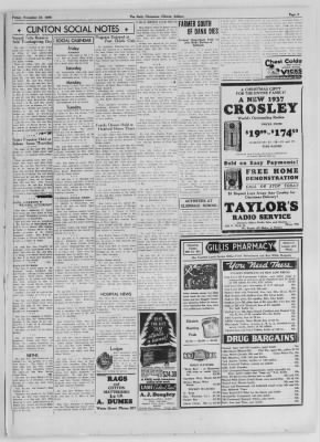 The Daily Clintonian from Clinton, Indiana on November 27, 1936 · Page 3