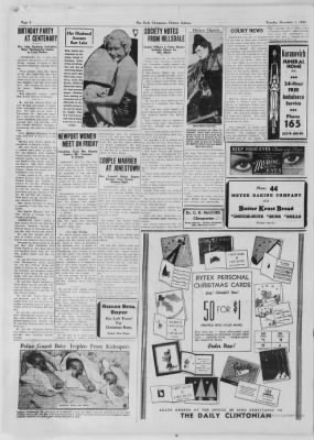 The Daily Clintonian from Clinton, Indiana on December 1, 1936 · Page 2