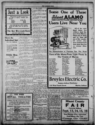 The Fairmount News from Fairmount, Indiana on September 12, 1921 · Page 4