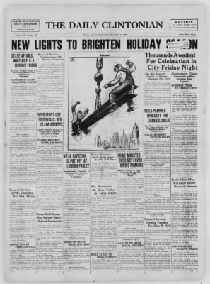 The Daily Clintonian from Clinton, Indiana on December 2, 1936 · Page 1