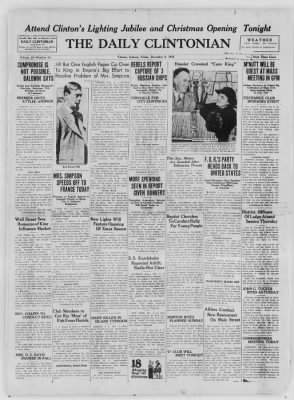 The Daily Clintonian from Clinton, Indiana on December 4, 1936 · Page 1