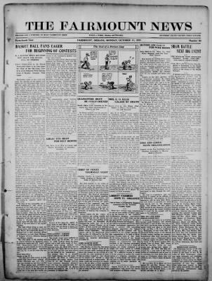 The Fairmount News from Fairmount, Indiana on October 17, 1921 · Page 1