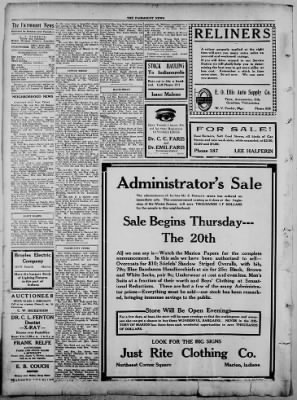 The Fairmount News from Fairmount, Indiana on October 20, 1921 · Page 4