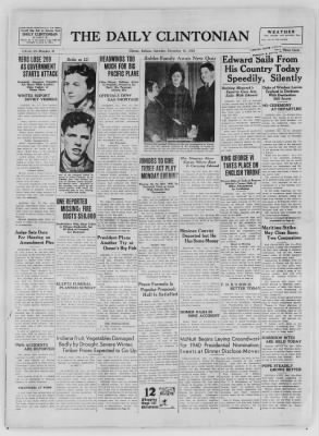 The Daily Clintonian from Clinton, Indiana on December 12, 1936 · Page 1
