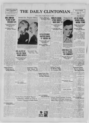 The Daily Clintonian from Clinton, Indiana on December 15, 1936 · Page 1