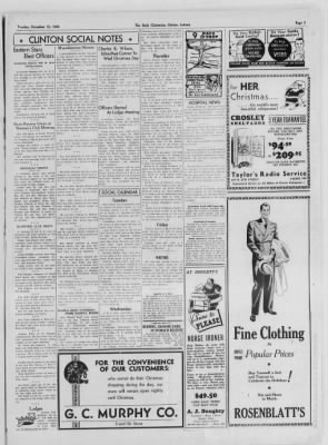 The Daily Clintonian from Clinton, Indiana on December 15, 1936 · Page 3