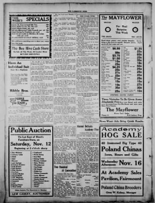 The Fairmount News from Fairmount, Indiana on November 7, 1921 · Page 4