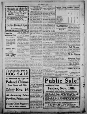 The Fairmount News from Fairmount, Indiana on November 14, 1921 · Page 4