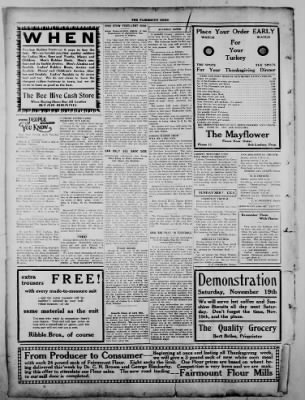 The Fairmount News from Fairmount, Indiana on November 17, 1921 · Page 8