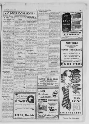 The Daily Clintonian from Clinton, Indiana on December 22, 1936 · Page 3