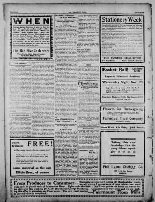The Fairmount News from Fairmount, Indiana on November 21, 1921 · Page 8