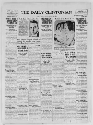 The Daily Clintonian from Clinton, Indiana on December 26, 1936 · Page 1