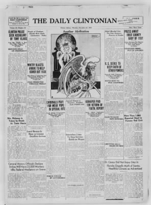 The Daily Clintonian from Clinton, Indiana on December 31, 1936 · Page 1