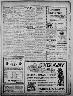 The Fairmount News from Fairmount, Indiana on December 15, 1921 · Page 4