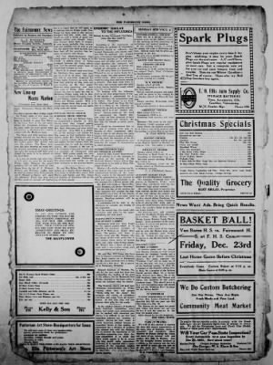 The Fairmount News from Fairmount, Indiana on December 22, 1921 · Page 4
