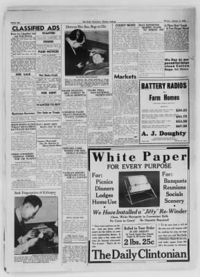 The Daily Clintonian from Clinton, Indiana on January 4, 1937 · Page 6
