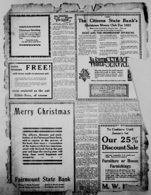 The Fairmount News from Fairmount, Indiana on December 22, 1921 · Page 8