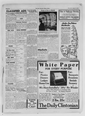 The Daily Clintonian from Clinton, Indiana on January 6, 1937 · Page 6