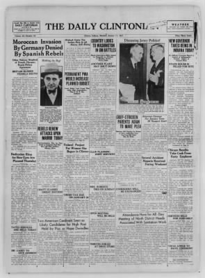The Daily Clintonian from Clinton, Indiana on January 11, 1937 · Page 1