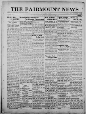 The Fairmount News from Fairmount, Indiana on February 2, 1922 · Page 1