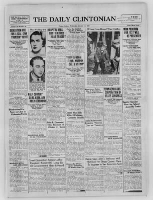 The Daily Clintonian from Clinton, Indiana on January 13, 1937 · Page 1