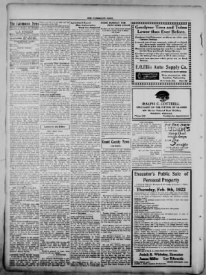 The Fairmount News from Fairmount, Indiana on February 6, 1922 · Page 2