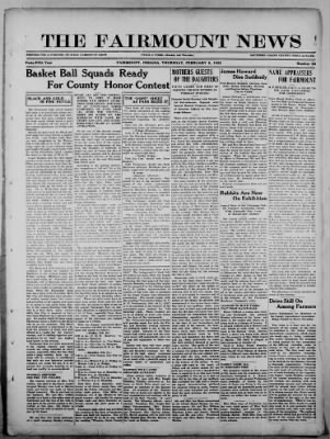 The Fairmount News from Fairmount, Indiana on February 9, 1922 · Page 1