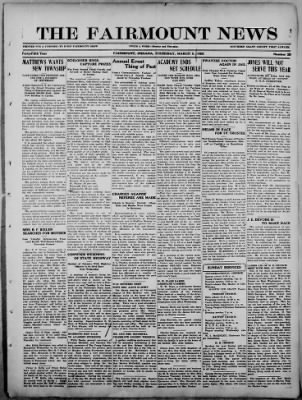 The Fairmount News from Fairmount, Indiana on March 9, 1922 · Page 1