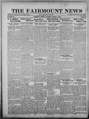 The Fairmount News from Fairmount, Indiana on March 16, 1922 · Page 1