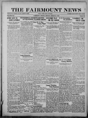 The Fairmount News from Fairmount, Indiana on March 27, 1922 · Page 1
