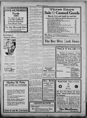 The Fairmount News from Fairmount, Indiana on March 30, 1922 · Page 4