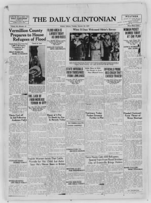 The Daily Clintonian from Clinton, Indiana on January 26, 1937 · Page 1
