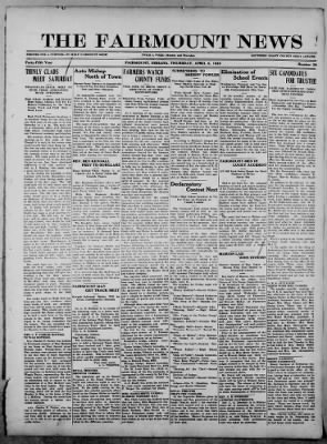 The Fairmount News from Fairmount, Indiana on April 6, 1922 · Page 1