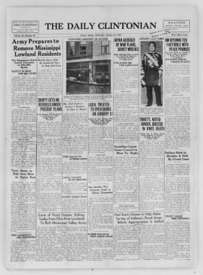 The Daily Clintonian from Clinton, Indiana on January 27, 1937 · Page 1