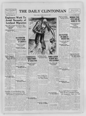 The Daily Clintonian from Clinton, Indiana on January 28, 1937 · Page 1