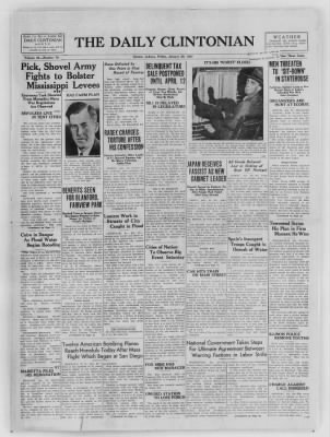 The Daily Clintonian from Clinton, Indiana on January 29, 1937 · Page 1