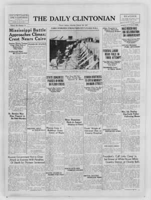 The Daily Clintonian from Clinton, Indiana on January 30, 1937 · Page 1