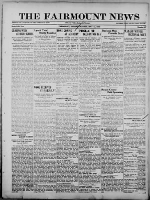 The Fairmount News from Fairmount, Indiana on May 15, 1922 · Page 1