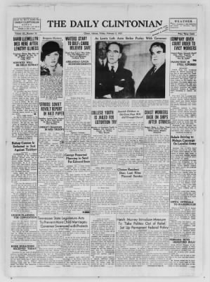 The Daily Clintonian from Clinton, Indiana on February 5, 1937 · Page 1