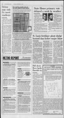 The Palm Beach Post from West Palm Beach, Florida on September 14, 1999 · Page 18