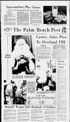 The Palm Beach Post from West Palm Beach, Florida on December 10, 1976 · Page 1