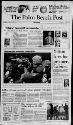 The Palm Beach Post from West Palm Beach, Florida on March 24, 1998 · Page 1