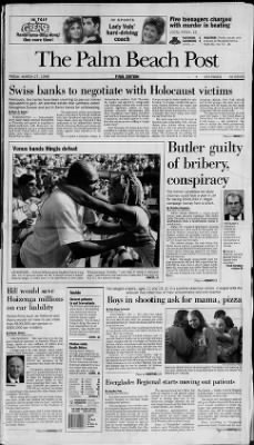 The Palm Beach Post from West Palm Beach, Florida on March 27, 1998 · Page 1