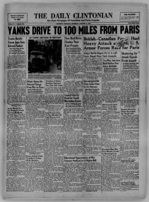 The Daily Clintonian from Clinton, Indiana on August 8, 1944 · Page 1