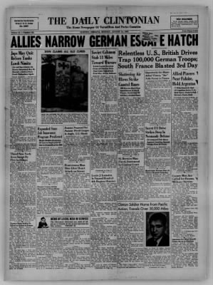 The Daily Clintonian from Clinton, Indiana on August 14, 1944 · Page 1