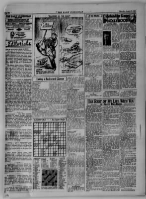 The Daily Clintonian from Clinton, Indiana on August 24, 1944 · Page 6