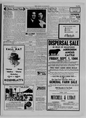 The Daily Clintonian from Clinton, Indiana on August 30, 1944 · Page 3